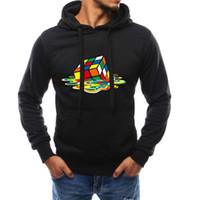 plus größe 3d drucken hoody groihandel-Hoodie 3D Printing Magic Cube Pullover Men Fashion Anzug Male Sweatshirt Hoody der Männer plus Größen-Purpose-Tour M-4XL