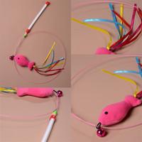 campainha de brinquedos venda por atacado-Atraente Gato Brinquedos Rosa Peixe Modelagem Com Hortelã Delicado Pequeno Sino Fio De Aço Fio De Fita Colorida Frete Grátis 2 2yc V
