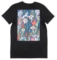 черный розовый mens tee оптовых-Розовый дельфин коралловый вид футболка мужская черная уличная мода TEE NWT короткие рукава хлопок мода Бесплатная доставка