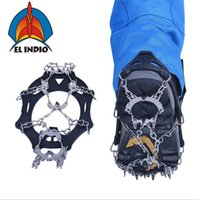 Wholesale el shoe - EL INDIO AT8607 Ice Gripper Outdoor Crampons Antiskid Shoe Covers Climbing Claw Hiking Ski