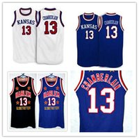 Wholesale 4xl Tall - Cheap Kansas Jayhawks 13 Wilt Chamberlain Retro Too Tall Hall Harlem Globetrotters Jerseys Size Men's embroidered Basketball Jersey
