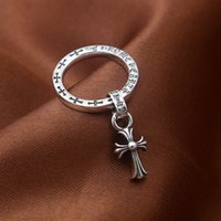 pingentes antigos china venda por atacado-2018 nova 925 prata esterlina jóias vintage americano antigo de prata feitos à mão designer banda anéis com pingente de cruz borla para as mulheres