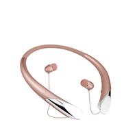 rauschunterdrückung ohrhörer ohr dj großhandel-Drahtloses Bluetooth-Headset HBS 910 CSR 4.0 Tone Infinim Headphones Sport-Nackenbügel-Kopfhörer-Hände geben HBS910 für iphone 8 frei