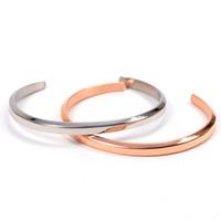 Wholesale mens bracelet titanium - 100% High quality DW Bracelets Cuff Rose Gold Silver Bangle All Stainless steel Bracelet Women and Mens Bracelet with Original logo