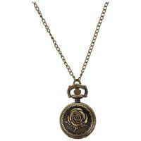 antigo relógio de bolso venda por atacado-Bolso de bronze da corrente do relógio de bolso de 27mm Rosa