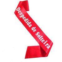 свадебная партия створка фиолетовые оптовых-Despedida де solteira пояс португальский девичник фиолетовый розовый красный черный синий атласная лента для новобрачных душ партия