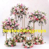 Wholesale flower factory sales resale online - Factory supplier sales gold metal round wedding classic mental arch for decorated flower best0398