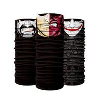 ingrosso sciarpa del tubo del bandana-Senza soluzione di continuità Multifunzione Magic Tube Skull Ghost Face Mask Fascia Bandana Headwear Ring Fast Drying Head Scarf 9 9xy W