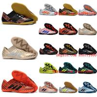 Wholesale Black Leather Tango Shoes - 2018 originals soccer cleats Nemeziz Tango 17.3 IC TF mens chaussures de football boots indoor soccer shoes Nemeziz 17 botas de futbol cheap
