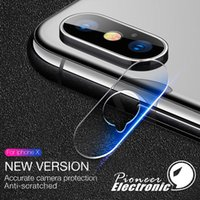 Wholesale iphone back glasses online - For iphone XR XS MAX X lens tempered glass D Film Camera Lens Screen Protector Back Cover Glass With Retail package