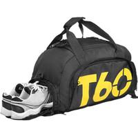 bolsa de zapatos de gimnasia al por mayor-New Men Sport Gym Bag Lady Women Fitness Bolsa de viaje Mochila al aire libre con espacio separado para zapatos Sac De Sport