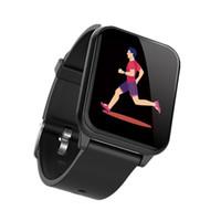 экранный браслет оптовых-ALANGDUO смарт-браслет с красочным OLED-экран часы монитор сердечного ритма Smart Sport Band фитнес-трекер Wrisband