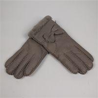 Wholesale branded sheepskin gloves for sale - Group buy Warm winter gloves manual brand fashion mittens women winter mittens lady gloves leather girl sheepskin fur
