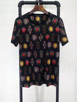 Wholesale Popular Fabric Prints - Fashion popular logo double mercerized fabric digital straight print color bright round collar men's T-shirt.