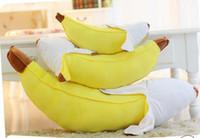 travesseiro de pelúcia banana venda por atacado-Banana travesseiro de pelúcia brinquedos de pelúcia simulação Peeling Banana travesseiro Longo Almofada occipital lombar 45 cm / 17.7 polegada 70 cm / 27.54 polegada 95 cm / 37.4 polegada