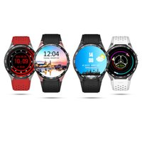 Wholesale Mens Golden Wrist Watches - KW88 Smartwatch 400mAh Battery For Android 5.1 Luxury Watches Pedometer WIFI GPS GSM WCDMA Calendar Heart Rate Bluetooth Mens Wristband