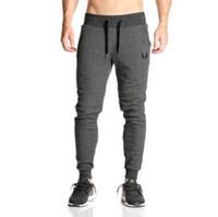quality sport leggings toptan satış-2018 Yüksek kalite GYMS Yeni Erkekler Pantolon Gymming Tayt Erkekler Fitness Egzersiz Sporting Spor Erkek Nefes Uzun Pantolon