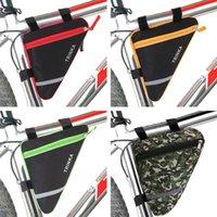 bisiklet için çanta tutacağı toptan satış-Bisiklet Çantası Su Geçirmez Bisiklet Üçgen Kılıfı Çerçeve Tutucu Çanta Üçgen Açık Sürme Depolama Bycicle Aksesuarları