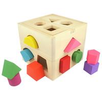 jouets de fille en bois achat en gros de-Blocs Briques Jouets Enfants Bébé Jouets Éducatifs En Bois Building Block Toddler Jouets pour Garçons Filles Apprentissage Jouet Éducatif Outil