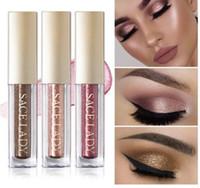 Wholesale make up kits glitter eye shadow for sale - Group buy Glitter Eyeshadow Makeup Liquid Shimmer Eye Shadow Metals Illuminator Glow Kit Make Up Highlighter Cream Cosmetic