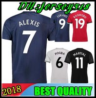 Wholesale United Soccer Shirt - 18 19 POGBA soccer jerseys 2018 2019 football shirt ALEXIS LINDELOF RASHFORD MKHITARYAN LUKAKU MARTIAL JERSEY united Adults and kids