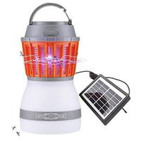 indoor insektenkiller großhandel-2 in 1 Insektenvernichter Abnehmbare tragbare Solarleuchte 3 erleichtern Modi USB-Lademoskito-Mörder elektrisch für Outdoor-Indoor-Camping