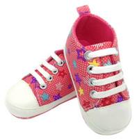 Wholesale sneakers infantil for sale - Group buy Baby Girls Boys Shoes Sneaker Anti slip lace up first walkers Soft Sole Toddler Colorful Canvas Shoes shoes baby infantil
