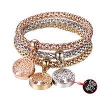 klasik tarz mücevherler toptan satış-6 Stilleri Yeni Geliş Vintage Tasarımcı Avusturya Rhinestones Altın Renk Charm Bilezikler Mücevherat Popcorn Zincir Takı Kadınlar Için