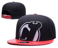 Wholesale Devil Hats - new NHL New Jersey Devils Snapback Men's Hats Embroider Team Logo Sports Adjustable Ice Hockey Caps Hip Hop Flat Visor Hat