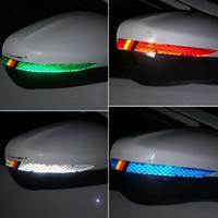 предупреждающая наклейка ветрового стекла оптовых-Применимо к Audi зеркало заднего вида светоотражающие наклейки A1 A3 A4 B8 A5 C6 A6 A8 Q3 Q5sline анти-столкновения клейкая лента