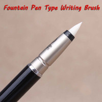 Fountain pen type writing brush full metal chinese calligraphy brush pen for  signature Drawing art supplies Stationery 1022 b24cfbe4e28f