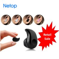 Wholesale Free Music Iphone - Retail Sale: S530 Mini Wireless Earbuds bluetooth headset Stereo Headphone with Mic Calling Music Playing for Smart Phone DHL Free Shipping