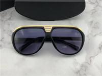 Wholesale logo resale online - hot men brand designer sunglasses classic sunglasses retro vintage shiny gold summer style laser logo top quality