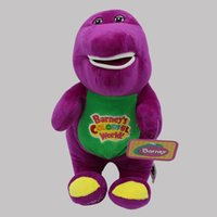 Wholesale dinosaurs toys videos for sale - Barney Colorful World Plush Toy For Children Birthday Gift Lovely Soft Stuffed Purple Dinosaur Doll With Sucker tz WW