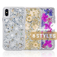 Wholesale protective card for sale – best For iPhone X Case Karat Petals Made with Real Flowers Slim TPU Protective Design For iPhone X S9 Plus Samsung Note cases