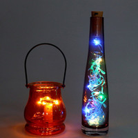 flaschendeckel großhandel-Top 2 Mt LED Girlande Kupferdraht Corker String Lichterketten für Glas Handwerk Flasche Neujahr / Weihnachten / Valentinstag Hochzeit Dekoration (9 Farbe)