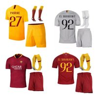 Wholesale roma football jersey for sale - 18 as roma SOCCER Jerseys adult KIT TOTTI DE ROSSI home away DZEKO EL Shaarawy roma football soccer Jerseys SET