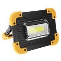 focos de iluminación de emergencia al por mayor-Recargable LED Spotlight portátil 30W 400LM reflector LED Spotlight para acampar al aire libre emergencia césped trabajo lámpara de iluminación