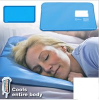 Wholesale Pat Mat - New Summer Chillow Pillow Therapy Insert Sleeping Aid Pat Mat Muscle Relief Cooling Gel Pillow Ice Pad Massager Water Filling Pillow Blue