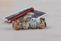 ingrosso animali da miniera giocattolo-4 stile mini mini fairy garden miniature figurine Gufo uccelli animali Action Figure Giocattoli ornamento terrario DHL libero spedizione