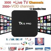 Wholesale Greek Box - TX5 pro 2+16GB Android TV BOX with EVDTV IPTV ARABIC Greek Turkish French Italy France UK USA Brazil Latin IPTV box KD 17.3 h.265 4k Video