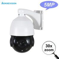 auto-zoom-kameras cctv großhandel-Günstige H.265 Mini-PTZ-IP-Kamera im Freien 1080P 2MP 4MP 5MP Nachtsicht 60m IR Auto-Zoom 30X Zoom Onvif Speed Dome CCTV PTZ-Kamera