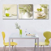 yağlı boya mutfak sanat toptan satış-3 Adet Meyve Mutfak Resimleri Soyut güzel yağlıboya ev duvar sanat ucuz Modüler Resimler Duvar Resimleri Için Oturma Odası Y18102209