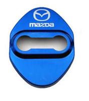 protectores de mazda al por mayor-Cerradura de la puerta Cubierta Car-Styling Car Emblem Caja de acero inoxidable para Mazda 3 6 2 cx3 cx5 cx7 323 Protector de cerradura de la puerta Accesorios de car styling