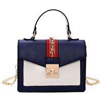Wholesale wild fashion bags - Luxury Handbags Women Bags Designer Women Fashion Hit Color Famous Brands New Handbag Trendy Tote Bags Wild Shoulder Bags Messenger Bag