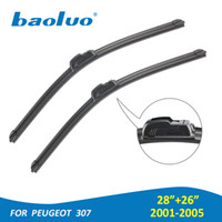 Wholesale 2PCS Windshield Wiper Blades For Peugeot quot quot Natural Rubber Auto Part Wiper Blades