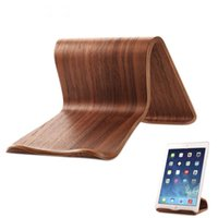 ingrosso google nexus tablet ipad-Supporto da tavolo bifacciale in legno per iPad / iPad Mini / Samsung Galaxy Tab / Google Nexus Most Tablets XXM8