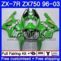 Wholesale 99 kawasaki ninja zx7r fairings online - Body For KAWASAKI NINJA ZX R ZX750 ZX7R HM ZX ZX R ZX ZX R Factory green top Fairing