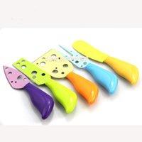 kitchen set classic 2018 - New stainless steel classic 5 Pcs Set Cheese Knife Set Cheese Fork Butter Knife MUti-color Cheese Cutter Kitchen Cooking Gadge