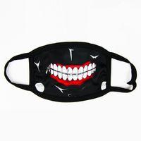 mascarillas divertidas al por mayor-Horror Halloween Cosplay mascarada media cara de algodón divertido máscara de la boca caliente Anti polvo comic negro creativas máscaras 2 4qk jj